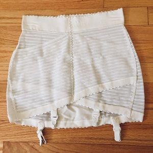 White Vintage Girdle size L / XL